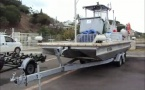 A Marina Cleaning Vessel