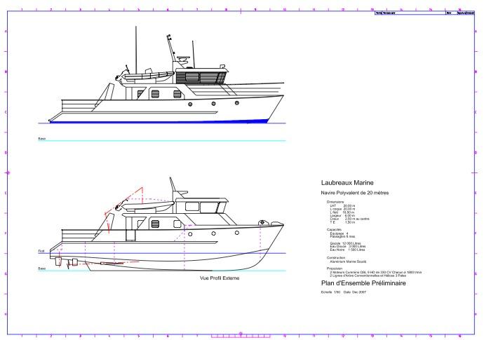 Conception des navires, élaboration de plans et documents